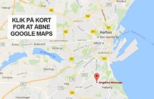 Google kort - Angelica Massage Aarhus