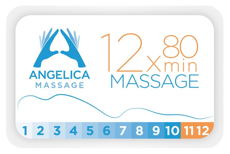 12 x klippekort til massage - Hos Angelica Massage
